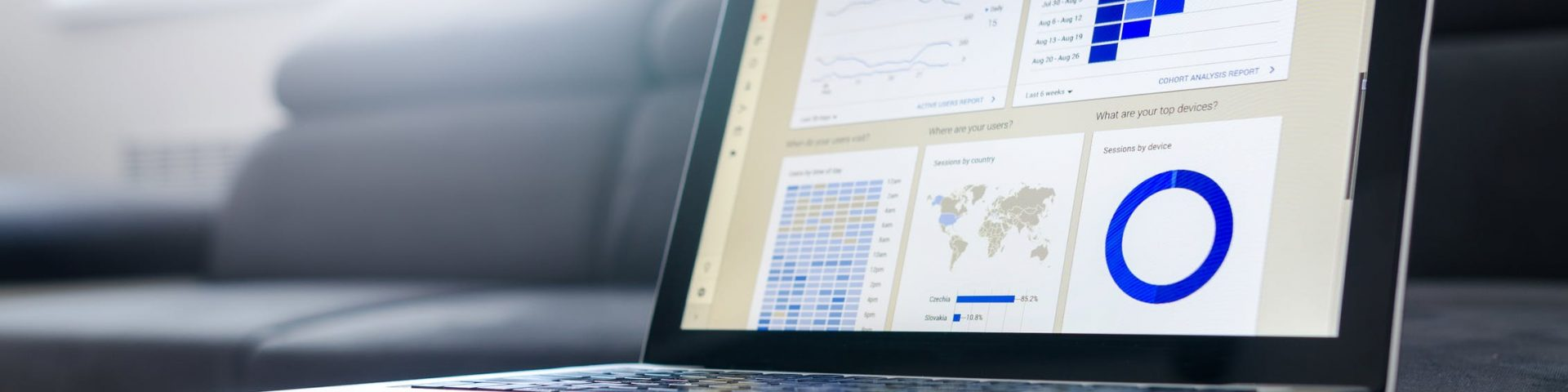 Outil de Business Intelligence qui affiche la data d'une entreprise